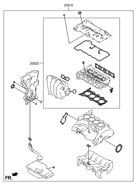 2017 Hyundai Elantra Gt Engine Gasket Kit Hyundai Parts Deal