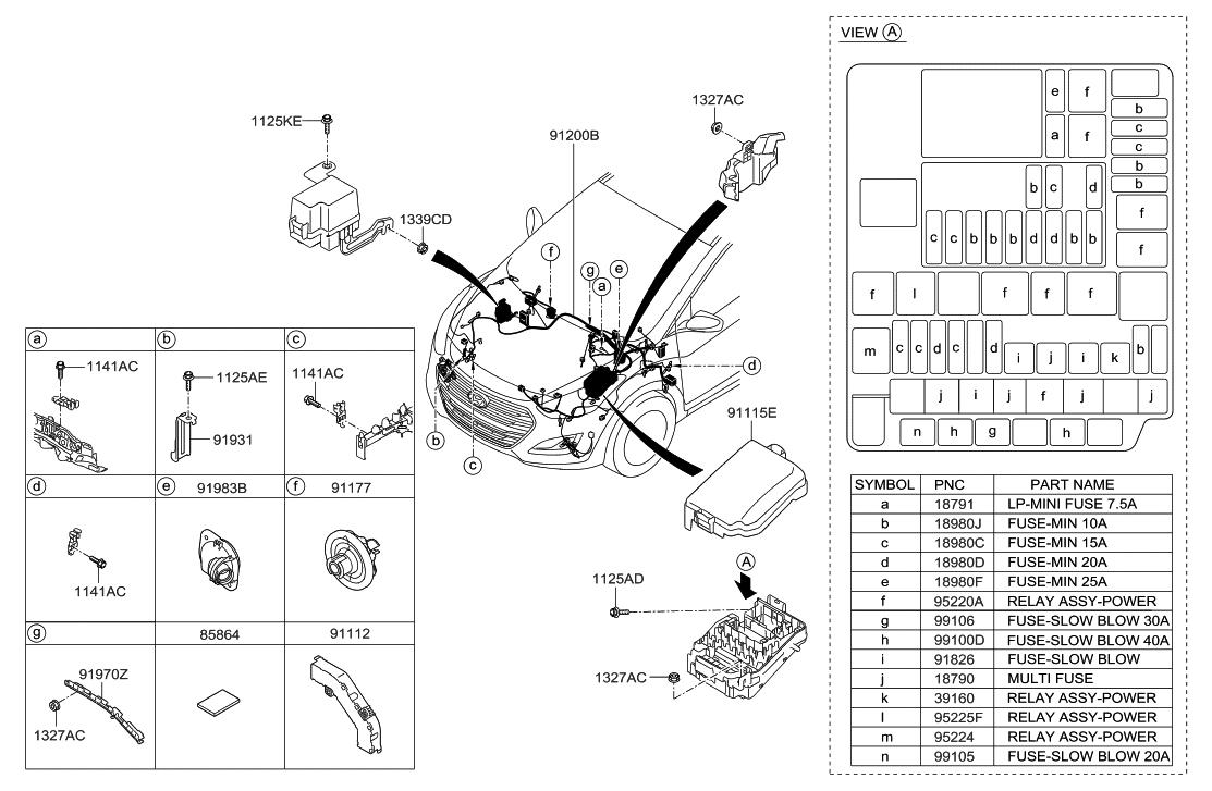 18790 01316 genuine hyundai multi fuse rh hyundaipartsdeal com hyundai tucson parts diagram hyundai hy2000si parts diagram