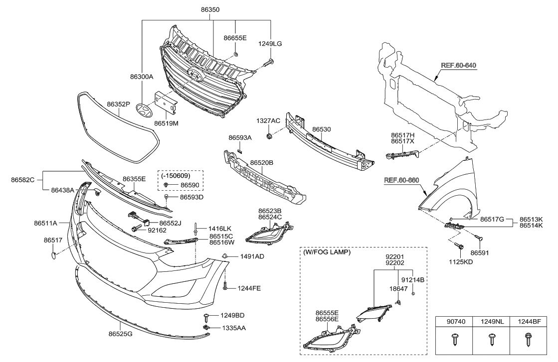 86511 a5000 genuine hyundai cover front bumper rh hyundaipartsdeal com hyundai elantra body parts diagram hyundai elantra 2004 parts diagram