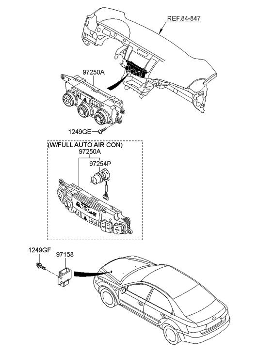 2007 Hyundai Sonata New Body Style Heater System-Heater