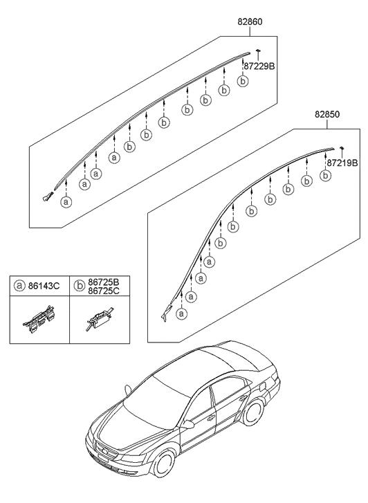 2007 Hyundai Sonata New Body Style Roof Garnish & Rear Spoiler