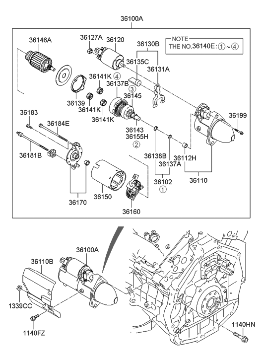 Hyundai Warranty Check >> 36100-2G100 - Genuine Hyundai STARTER ASSEMBLY