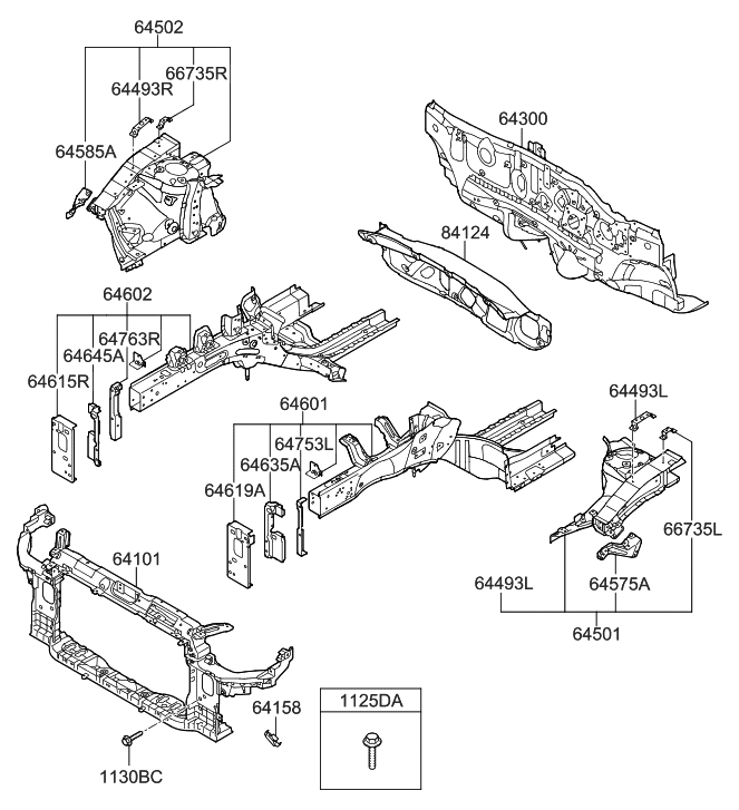 2013 hyundai elantra us alabama made fender apron radiator support rh hyundaipartsdeal com hyundai elantra parts catalog 2011 hyundai elantra parts diagram