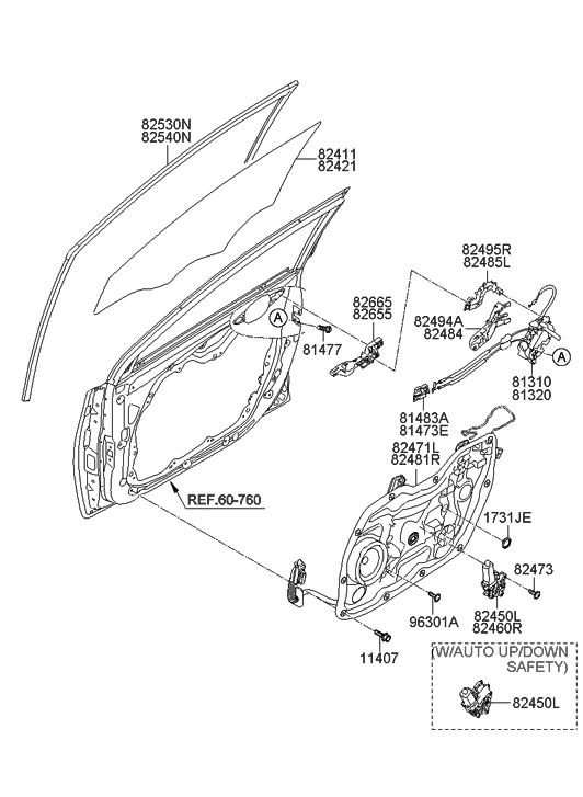 Genuine Hyundai 83665-3X000 Door Handle Assembly Exterior