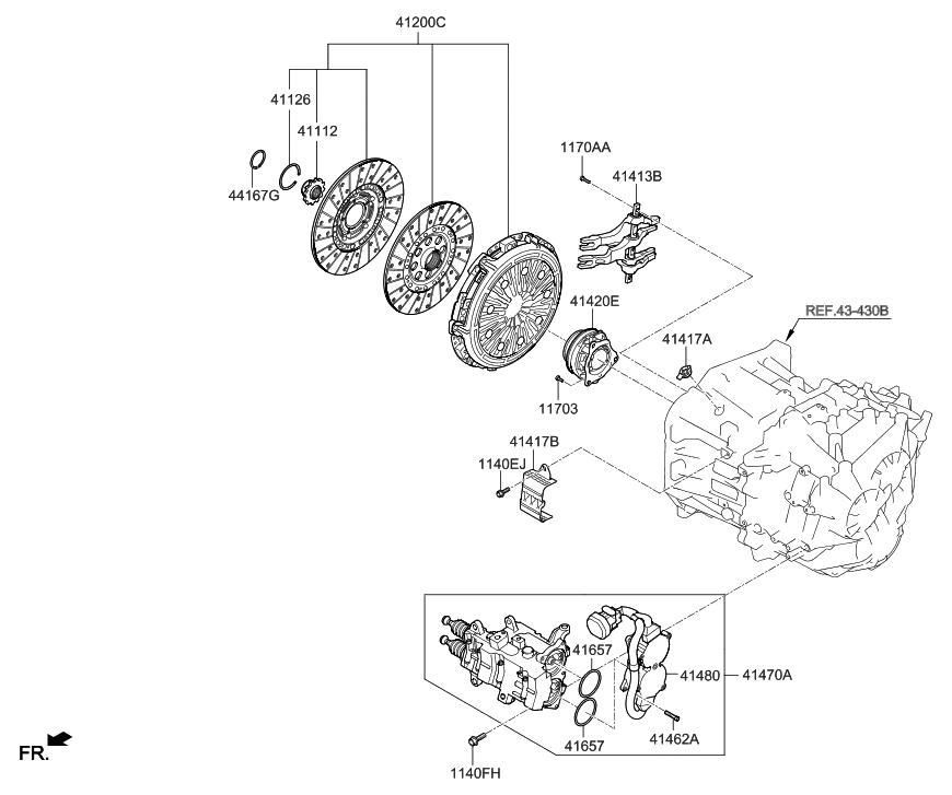 41470 2d011 genuine hyundai actuator assembly clutch 1 rh hyundaipartsdeal com Hyundai Elantra Parts Diagram Hyundai Body Parts Diagram
