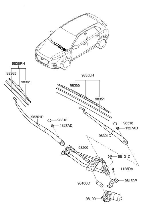 2018 hyundai elantra gt windshield wiper