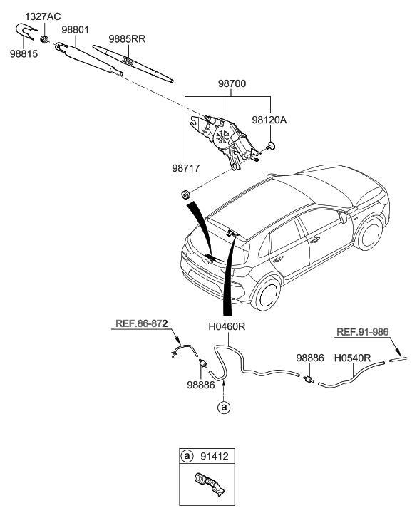 2018 Hyundai Elantra Gt Rear Wiper  U0026 Washer