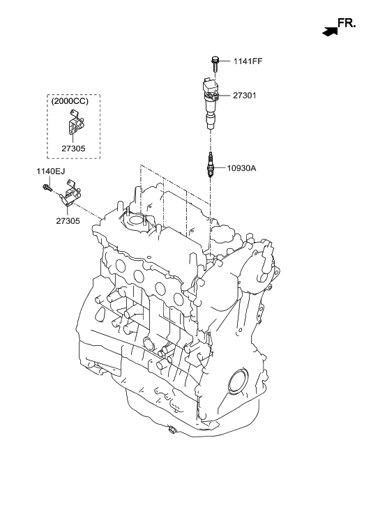 27300 2gga0 genuine hyundai coil assembly ignition. Black Bedroom Furniture Sets. Home Design Ideas