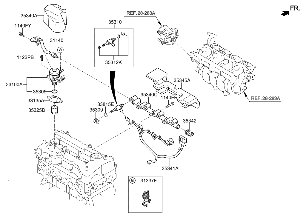 2015 Hyundai Sonata Throttle Body & Injector
