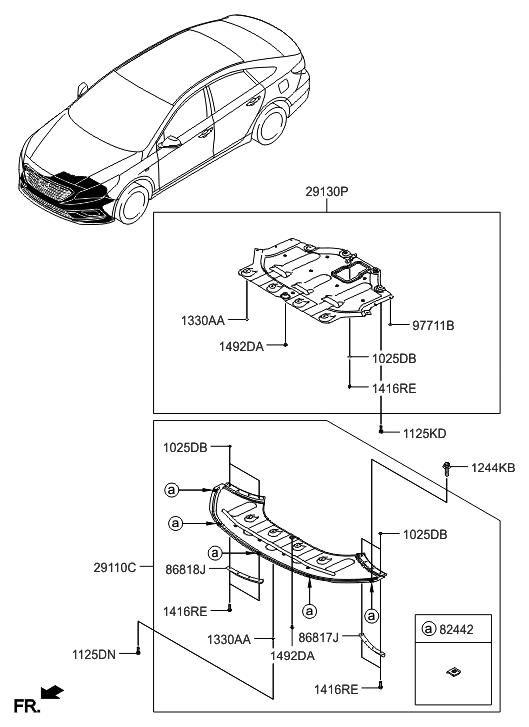Genuine Hyundai Deflector Front Wheel Rh