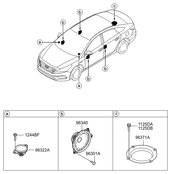 2017 Hyundai Sonata Speaker Thumbnail 1