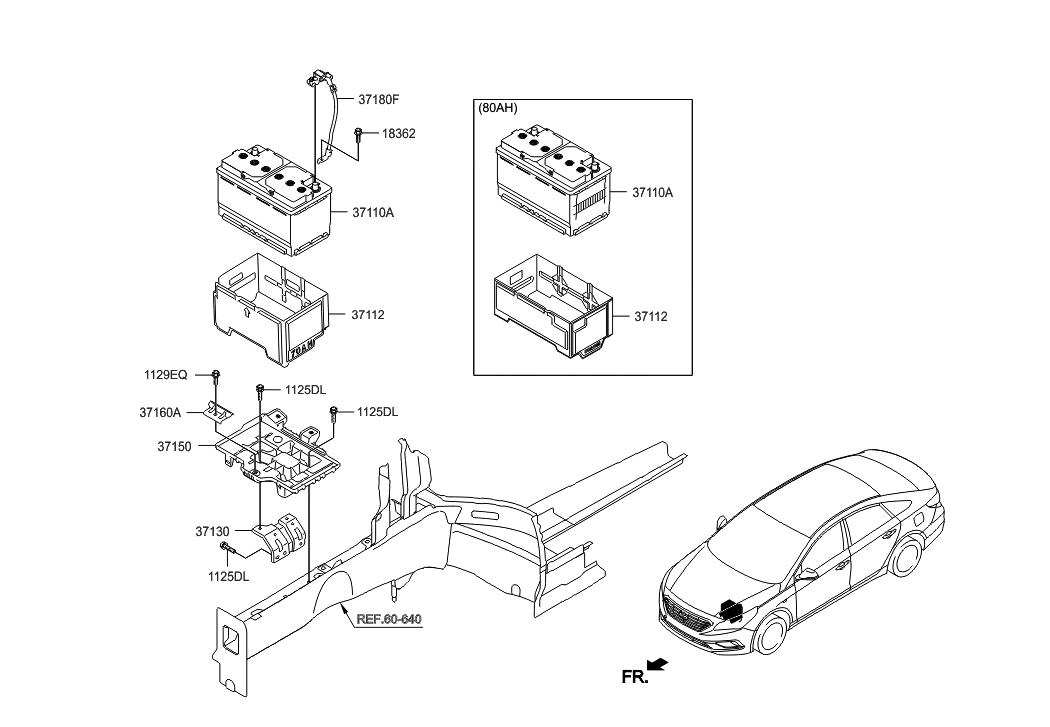 2017 Hyundai Sonata Battery Cable