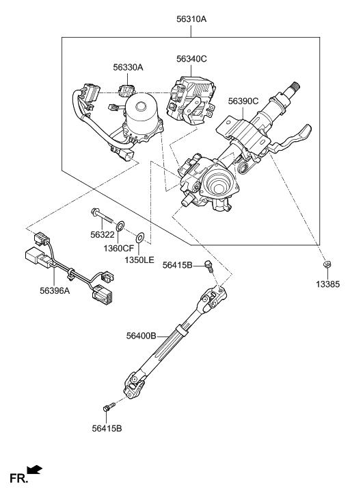 Parts Of A Column >> 2018 Hyundai Sonata Steering Column Shaft Hyundai Parts Deal