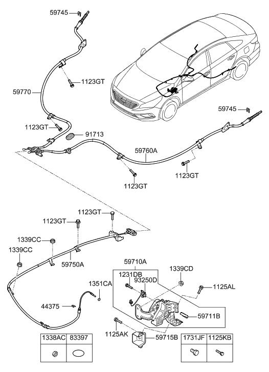 Hyundai Sonata Parking Brake Diagram