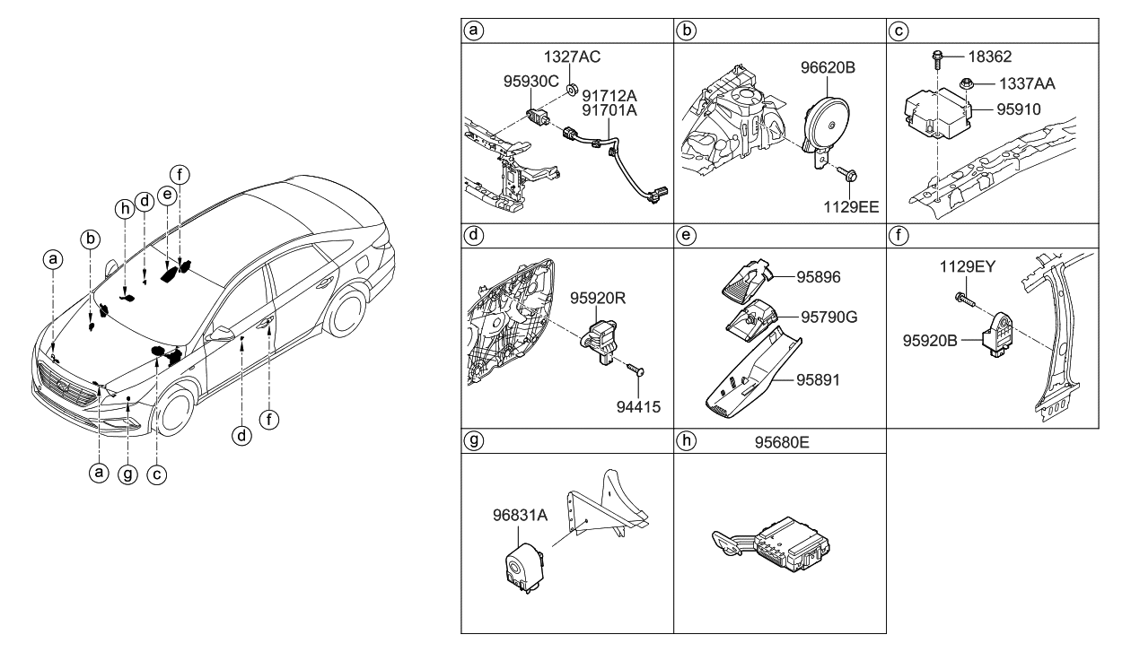 91711 C2600 Genuine Hyundai Wiring Harness Airbag Extensionlh Sonata Diagram 2018 Relay Module