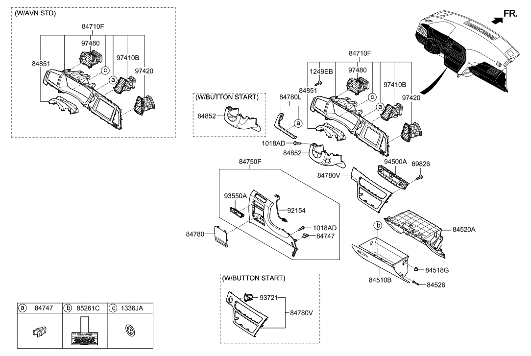84753 C2aa0 Try Genuine Hyundai Cover Assembly Fuse Box 2018 Sonata Crash Pad