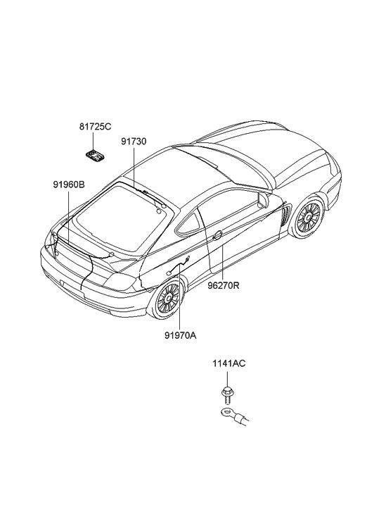 91965 2c020 Genuine Hyundai Wiring Assembly Tail Gate
