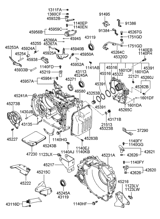 2002 Hyundai Sonata Alternator Location