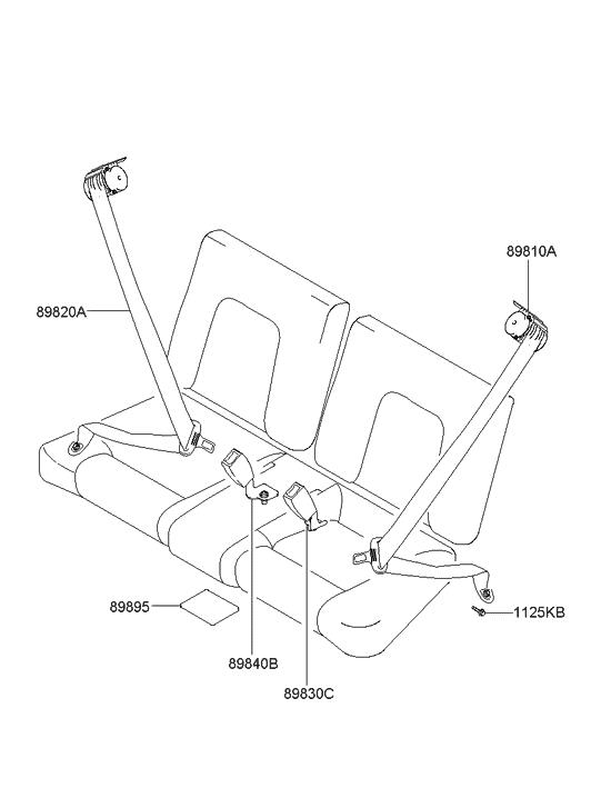 89810 2c500 lk genuine hyundai seat belt assembly rear lh rh hyundaipartsdeal com hyundai seat belt replacement cost hyundai sonata seat belt replacement