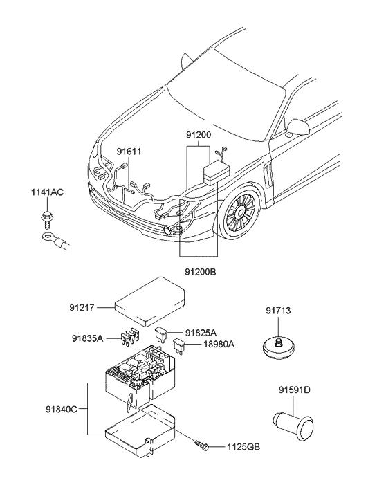 2004 Hyundai Tiburon Engine Wiring