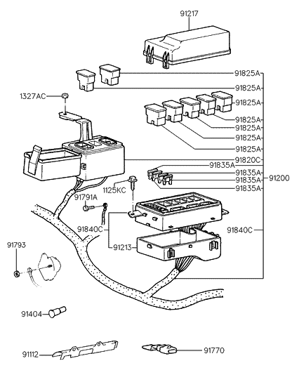 1992 hyundai elantra engine wiring