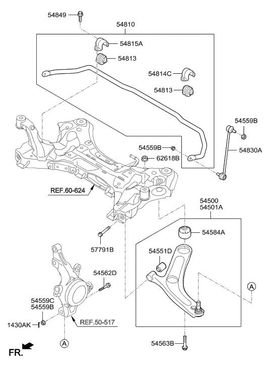 2016 hyundai azera front suspension control arm