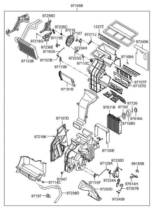 2009 hyundai veracruz heater system-heater & blower - thumbnail 1