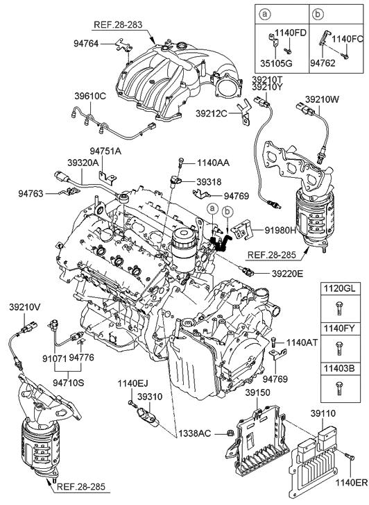 39106-3C461 - Genuine Hyundai ELECTRONIC CONTROL UNIT