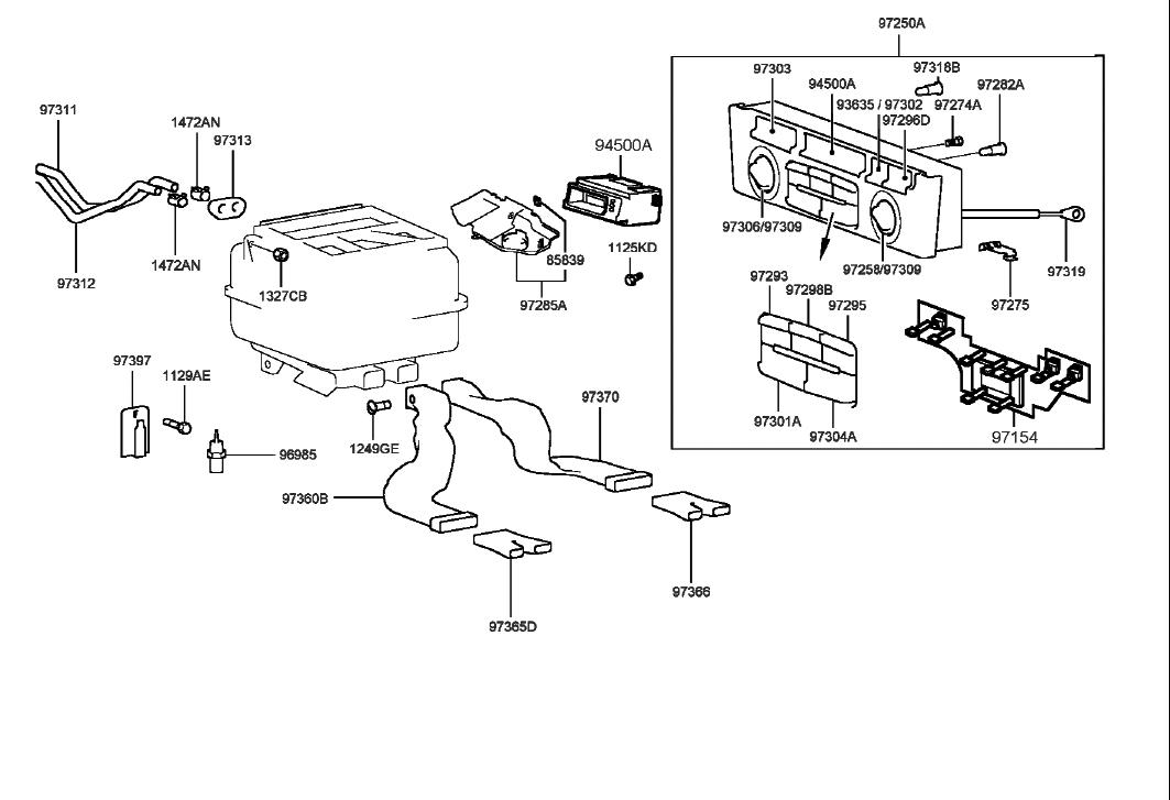 Genuine Hyundai 97260-38270-ZX Heater Control Assembly