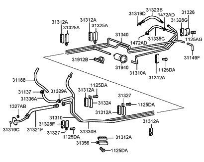 2001 Hyundai Sonata Engine Diagram