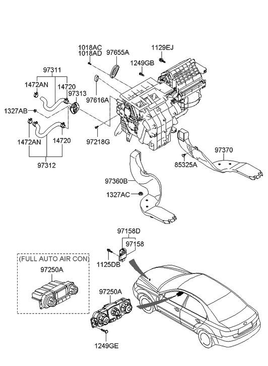 2006 Hyundai Sonata Heater System
