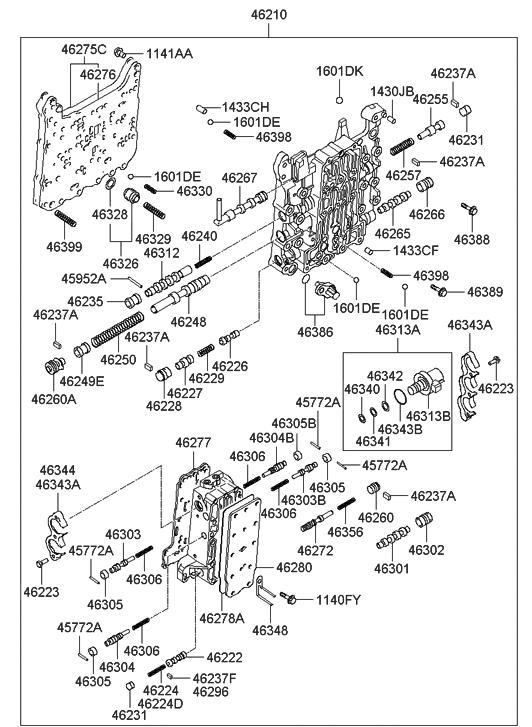2006 hyundai sonata transmission valve body hyundai parts deal rh hyundaipartsdeal com Hyundai Sonata Auto Parts Hyundai Sonata Parts Diagram