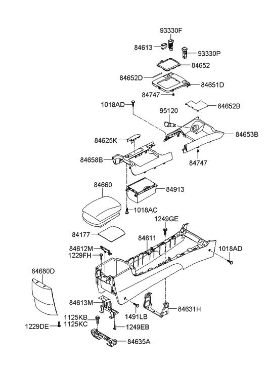 2005 hyundai sonata parking brake diagram