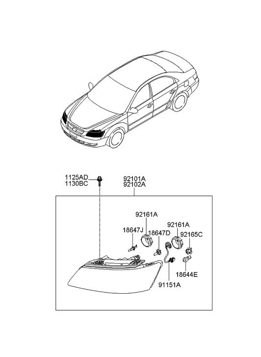 92165 3k000 Genuine Hyundai Parts