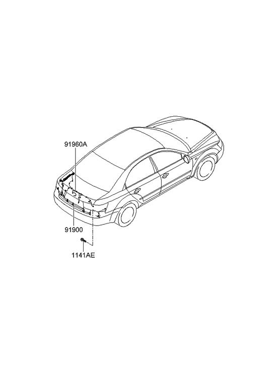 2006 Hyundai Sonata Trunk Lid Wiring