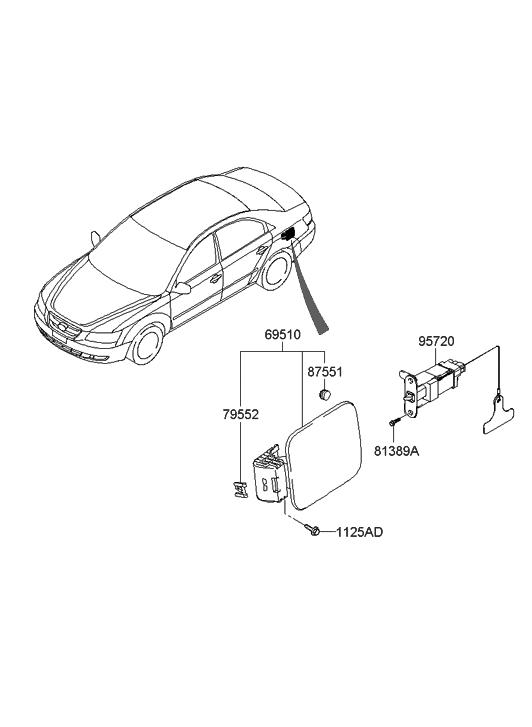 2006 Hyundai Sonata Fuel Filler Door Hyundai Parts Deal
