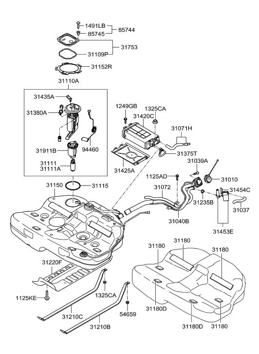 2006 Hyundai Sonata Fuel Tank Hyundai Parts Deal