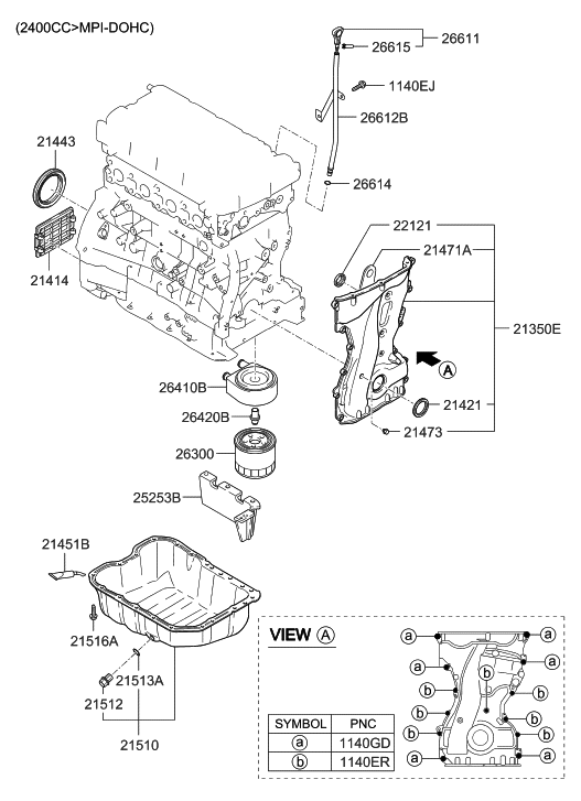 2005 Hyundai Sonata Engine Diagram