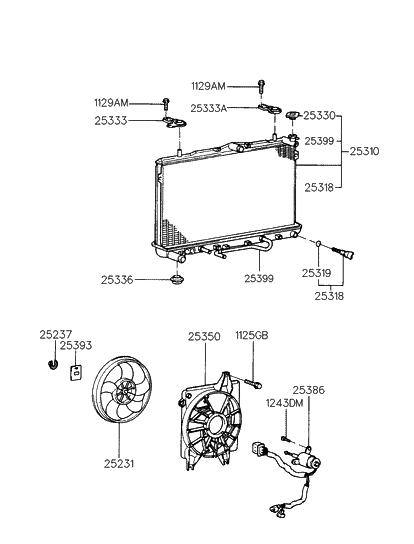 25310 27000 genuine hyundai radiator assembly. Black Bedroom Furniture Sets. Home Design Ideas