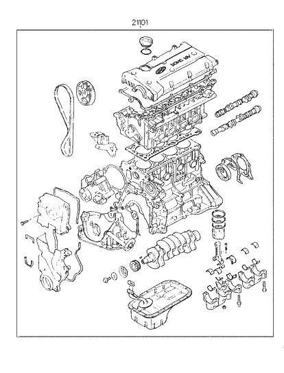 [SCHEMATICS_48DE]  1997 Hyundai Tiburon Sub Engine Assy (Beta) - Hyundai Parts Deal | 1997 Hyundai Tiburon Engine Diagram |  | Hyundai Parts