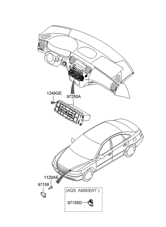 2009 Hyundai Azera Heater System-Heater Control