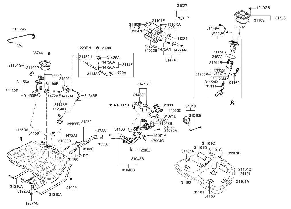 31435 2d501 genuine hyundai sensor fuel tank pressure. Black Bedroom Furniture Sets. Home Design Ideas