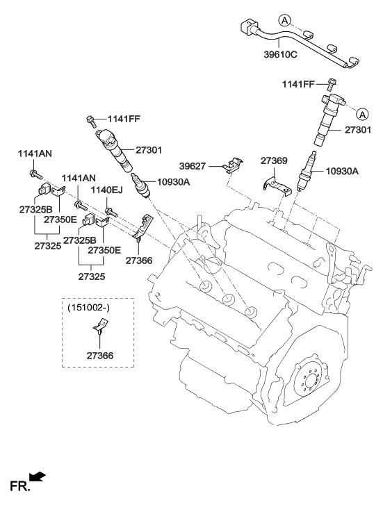 2014 Hyundai Santa Fe Korean made Spark Plug & Cable