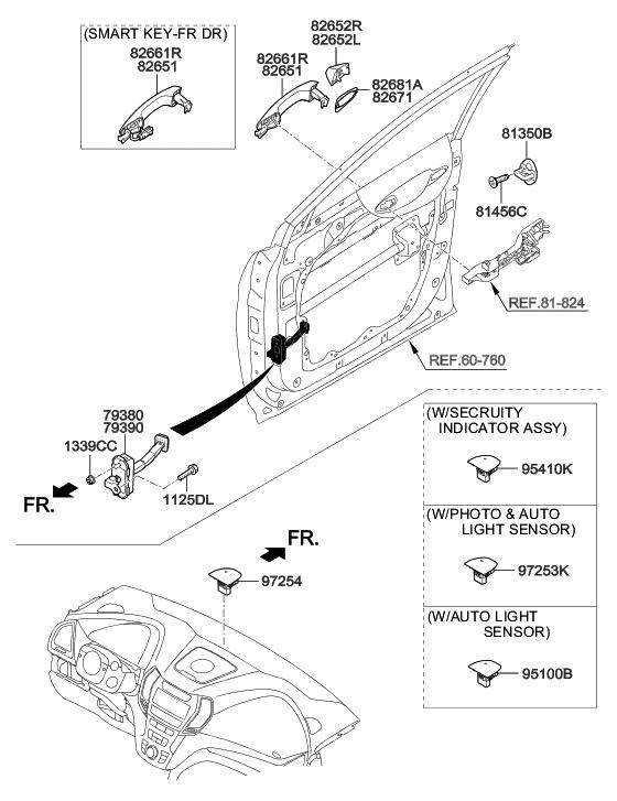 2014 Hyundai Santa Fe Korean made Front Door Locking