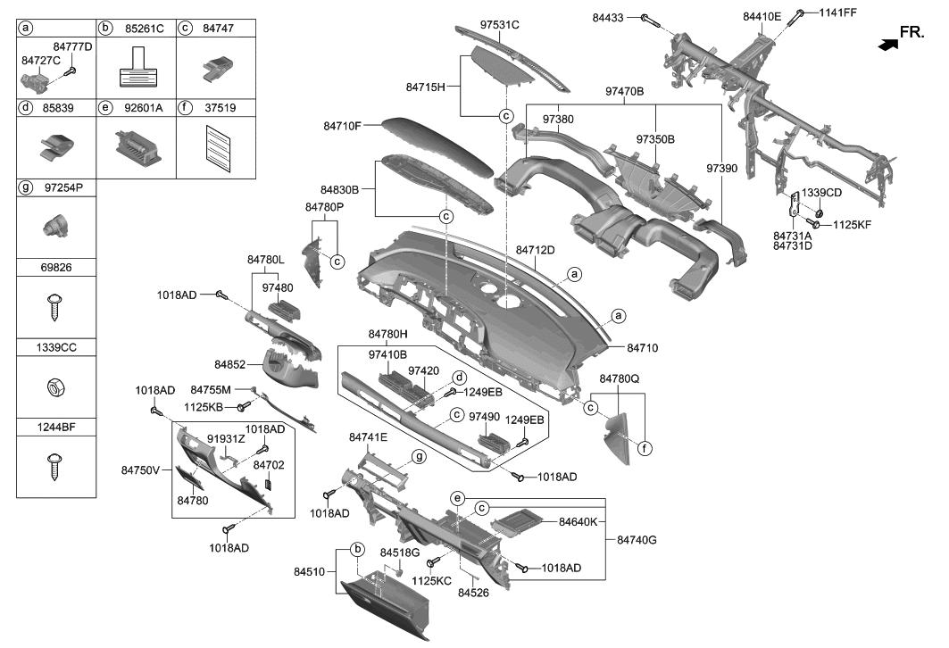 2019 Hyundai Nexo Crash Pad