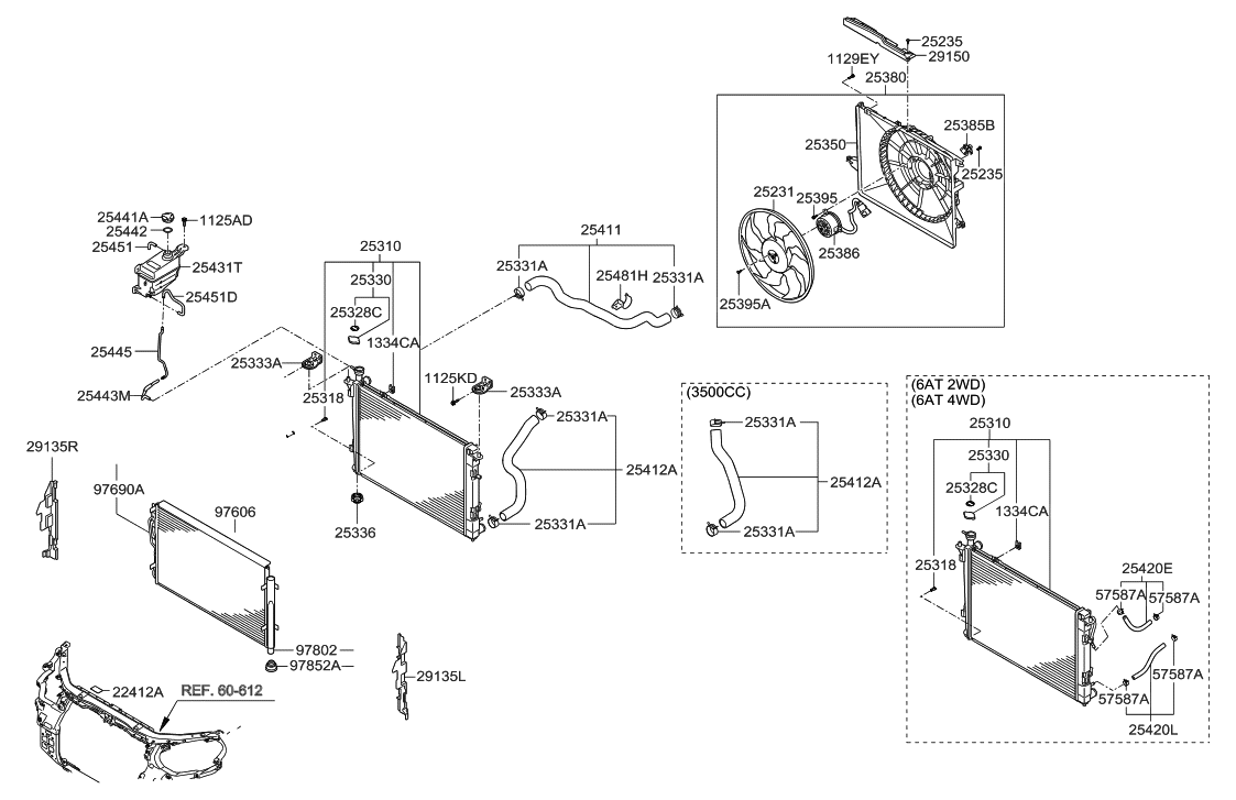 2009 Hyundai Santa Fe New Body Style engine-cooling-system