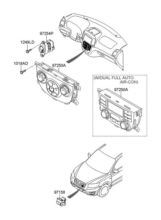 2009 Hyundai Santa Fe New Body Style Heater System-Heater