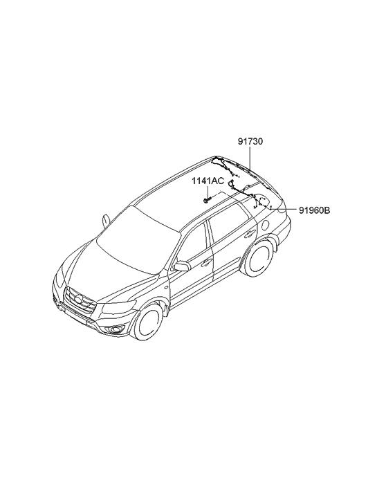 2010 Hyundai Santa Fe Trunk Lid Wiring