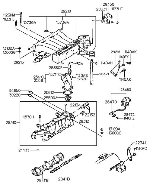 94650 32510 Genuine Hyundai Gauge Module Coolant Temperature