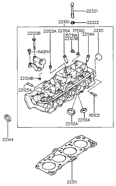 22121 11000 Genuine Hyundai Cap Sealing